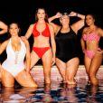"""Katie Duke, Ashley Graham, Brooke Shields, Ashley Graham, Pat Gallant-Charette et Angela Simmons dans """"Power Suit"""" pour Swimsuits For All. Mai 2018."""