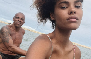 Tina Kunakey : La future mariée expose son sexy papa, musclé et canon