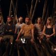 """Le jury final lors du conseil final de """"Koh-Lanta : Le Combat des héros"""" (TF1) vendredi 25 mai 2018."""