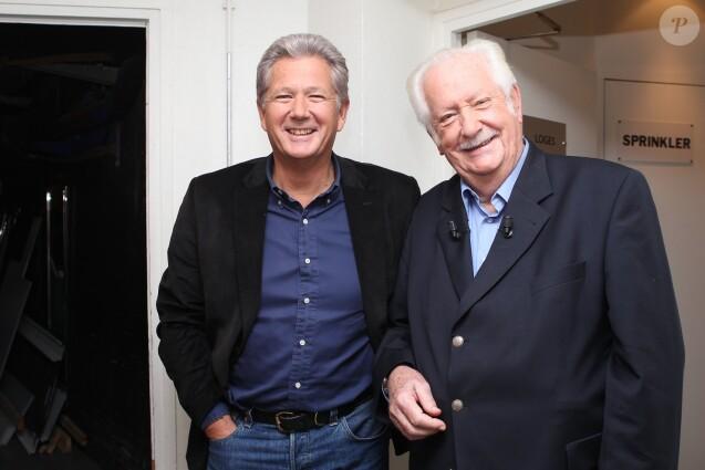"""Pierre Dhostel et son père Pierre Bellemare - Enregistrement de l'émission """"Vendredi sur un plateau"""" en 2011."""