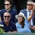 Amel Bent et son mari Patrick Antonelli déchaînés dans les tribunes des internationaux de tennis de Roland Garros à Paris, France, le 3 juin 2018. © Dominique Jacovides - Cyril Moreau/Bestimage