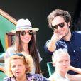 Le chanteur Vianney (Vianney Bureau) et sa compagne Catherine Robert dans les tribunes des internationaux de tennis de Roland Garros à Paris, France, le 3 juin 2018. © Dominique Jacovides - Cyril Moreau/Bestimage  Celebs attending the Roland Garros French Open, in Paris, France, on June 3rd, 2018.03/06/2018 - Paris