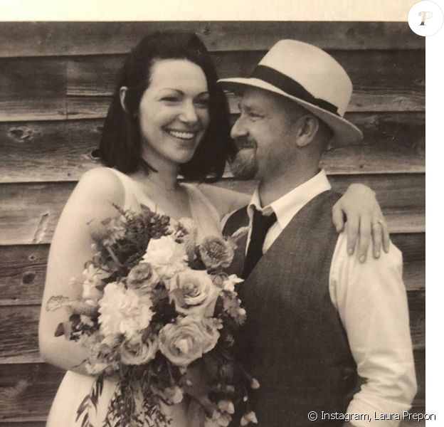 Laura Prepon et Ben Foster mariés ! Photo publiée par l'actrice sur Instagram, le dimanche 3 juin 2018.