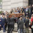 Obsèques de Christophe Michel (mari de JL Romero) au crématorium du cimetière du Père Lachaise à Paris le 6 juin 2018.