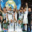 Zinedine Zidane et l'équipe du Real Madrid - Le Real Madrid remporte la Ligue des Champions face au FC Liverpool à Kiev le 26 mai 2018.
