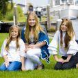 La princesse Ariane, la princesse Catharina-Amalia et la princesse Alexia des Pays-Bas à Warmond le 7 juillet 2017, lors de la traditionnelle séance photo des vacances d'été de la famille royale.