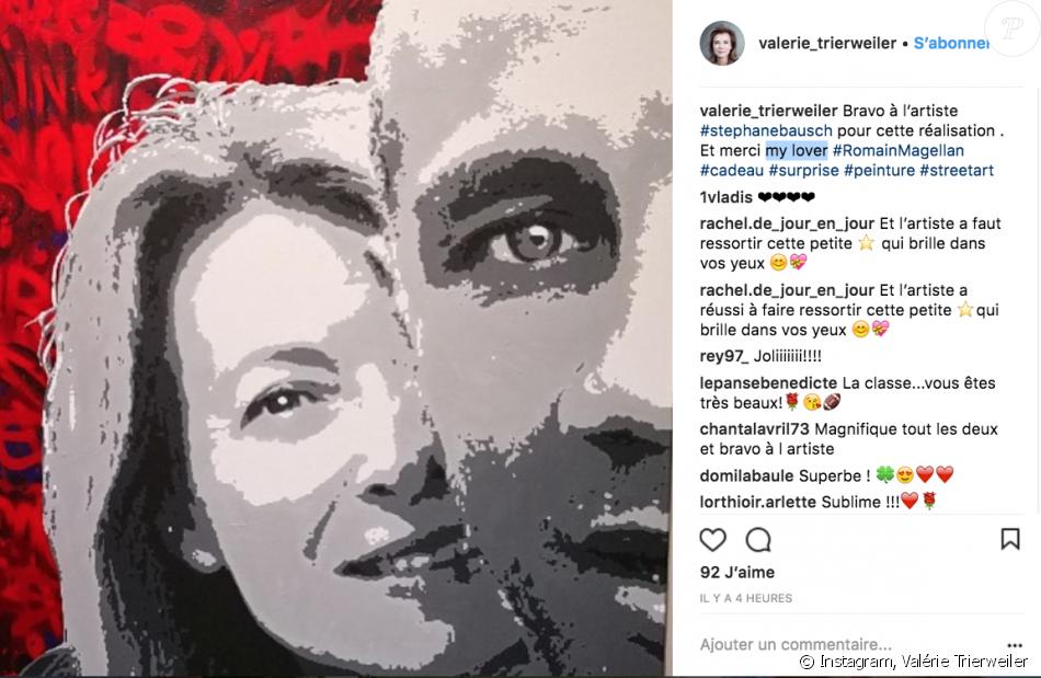 Valérie Trierweiler confirme son histoire d'amour avec Romain Magellan sur Isntagram, le 7 juin 2018.