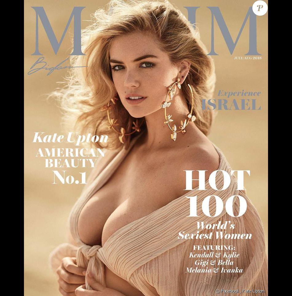 Kate Upton en couverture de Maxim. Numéro de juillet/août 2018.