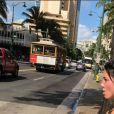 Delphine Wespiser à Honolulu (Hawaï) le 9 janvier 2018.