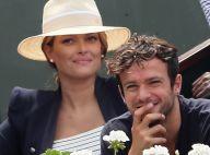 Caroline Receveur très enceinte et complice avec son chéri Hugo à Roland-Garros