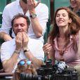 Augustin Trapenard et Doria Tillier à Roland-Garros le 9 juin 2018.  © Cyril Moreau / Bestimage