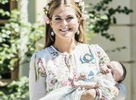 Princesse Adrienne de Suède : Si craquante à son baptême, Madeleine très fleurie