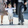 Le prince Oscar - Baptême de la princesse Adrienne de Suède à Stockholm au palais de Drottningholm en Suède le 8 juin 2018