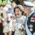 Le roi Carl XVI Gustav de Suède et la reine Silvia de Suède - Baptême de la princesse Adrienne de Suède à Stockholm au palais de Drottningholm en Suède le 8 juin 2018