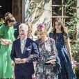 Henry d'Abo et Tatjana d'Abo - Baptême de la princesse Adrienne de Suède à Stockholm au palais de Drottningholm en Suède le 8 juin 2018