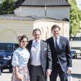 Louise Gottlieb Thott, Dag Werner, Christoffer Cederlund - Baptême de la princesse Adrienne de Suède à Stockholm au palais de Drottningholm en Suède le 8 juin 2018