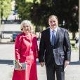 Ulla Lofven et son mari le premier ministre Stefan Lofven - Baptême de la princesse Adrienne de Suède à Stockholm au palais de Drottningholm en Suède le 8 juin 2018