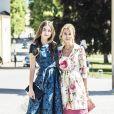 La comtesse Natascha von Abensperg et sa soeur Milana Abensperg und Traun - Baptême de la princesse Adrienne de Suède à Stockholm au palais de Drottningholm en Suède le 8 juin 2018