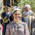 La princesse Victoria, le prince Daniel et le prince Oscar - Baptême de la princesse Adrienne de Suède à Stockholm au palais de Drottningholm en Suède le 8 juin 2018