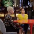 """Jada Pinkett Smith, sa mère Adrienne Banfield-Norris, sa fille Willow Smith et l'amie de cette dernière Telana Lynum dans l'émission """"Red Table Talk"""" diffusée sur Facebook. Juin 2018."""