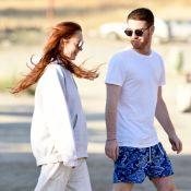 Lindsay Lohan : Sa journée plage en compagnie d'un mystérieux jeune homme