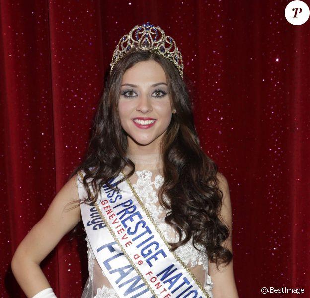 """Margaux Deroy, Miss Prestige national 2015 (Miss Prestige Flandre 2014) - Election Miss Prestige national 2015 au """"Royal Palace"""" à Kirrwiller, le 18 janvier 2015."""