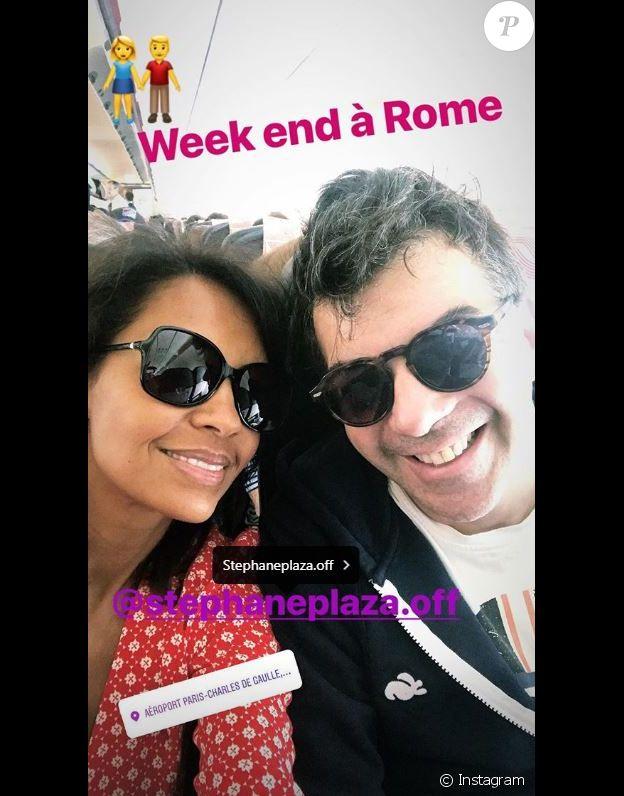 Karine Le Marchand part en week-end à Rome avec Stéphane Plaza le 16 juin 2018.