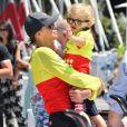 La princesse Charlene de Monaco, le prince Jacques lors du Water Bike Challenge, au profit de la Fondation princesse Charlene de Monaco au départ du Yacht Club de Monaco le 17 juin 2018. © Bruno Bebert / Bestimage