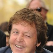 Paul McCartney nous a fait un festival de grimaces... pour l'inauguration de l'étoile de George Harrison sur Hollywood Boulevard !