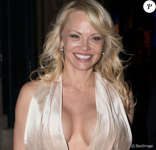 """Exclusif - Pamela Anderson - Dîner de charité """"Paramour"""" organisé par LINK Fonds de dotation contre le Sida à l'hôtel d'Evreux à Paris, France, le 27 mai 2018."""