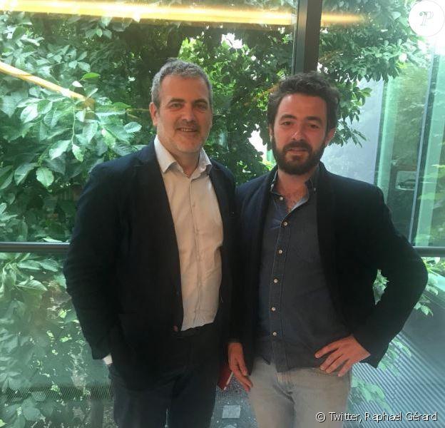 Raphaël Gérard (à gauche), en juin 2018