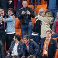 Valérie Begue, Dylan Deschamps, Nagui, sa femme Mélanie Page lors du match de coupe du monde opposant la France au Pérou au stade Ekaterinburg à Yekaterinburg, Russie, le 21 juin 2018. La France a gagné 1-0. © Cyril Moreau/Bestimage