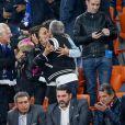 Valérie Begue, Dylan Deschamps, Nagui lors du match de coupe du monde opposant la France au Pérou au stade Ekaterinburg à Yekaterinburg, Russie, le 21 juin 2018. La France a gagné 1-0. © Cyril Moreau/Bestimage