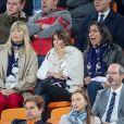Mélanie Page, Claude Deschamps et Leïla Kaddour-Boudadi lors du match de coupe du monde opposant la France au Pérou au stade Ekaterinburg à Yekaterinburg, Russie, le 21 juin 2018. La France a gagné 1-0. © Cyril Moreau/Bestimage