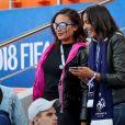 Valérie Begue, Leïla Kaddour-Boudadi lors du match de coupe du monde opposant la France au Pérou au stade Ekaterinburg à Yekaterinburg, Russie, le 21 juin 2018. La France a gagné 1-0. © Cyril Moreau/Bestimage