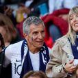 Nagui et sa femme Mélanie Page lors du match de coupe du monde opposant la France au Pérou au stade Ekaterinburg à Yekaterinburg, Russie, le 21 juin 2018. La France a gagné 1-0. © Cyril Moreau/Bestimage