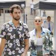 Camélia Jordana et un ami au défilé de mode Balmain homme collection printemps-été 2019 lors de la fashion week à Paris le 24 juin 2018 © Veeren/CVS/Bestimage