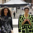 Tina Kunakey et son frère Zakari Tunakey au défilé de mode Balmain homme collection printemps-été 2019 lors de la fashion week à Paris le 24 juin 2018 © Veeren/CVS/Bestimage