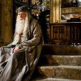 Michael Gambon qui joue Dumbledore dans Harry Potter et le Prince de sang-mêlé