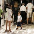 Exclusif - Matthew McConaughey en vacances en famille avec sa femme Camila Alves et leurs enfants sur l'ïle de Mykonos en Grèce le 23 juin 2018