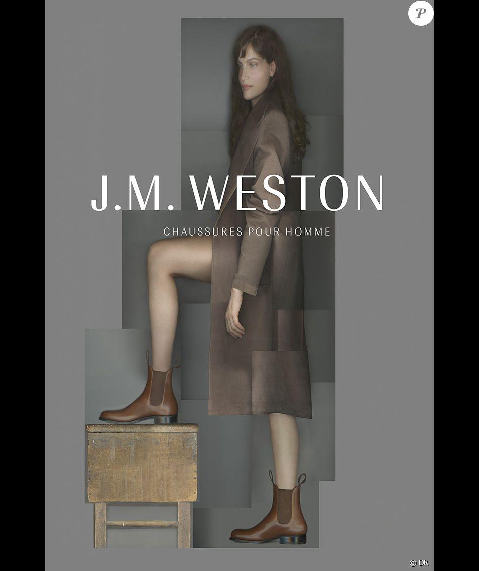 Laetitia Casta, visage de la nouvelle campagne publicitaire de J.M. Weston.