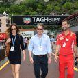 Hugh Grant et sa femme Anna Eberstein au 76ème Grand Prix de Formule 1 de Monaco le 27 mai 2018. Le couple s'est marié le 24 mai 2018 à Londres. © Bruno Bebert/Bestimage