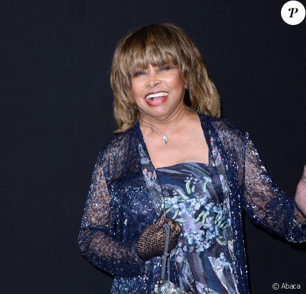 Tina Turner au défilé Giorgio Armani Haute Couture à Paris le 3 juillet 2018.