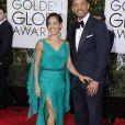 Will Smith et sa femme Jada Pinkett Smith - La 73ème cérémonie annuelle des Golden Globe Awards à Beverly Hills, le 10 janvier 2016. © Olivier Borde/Bestimage