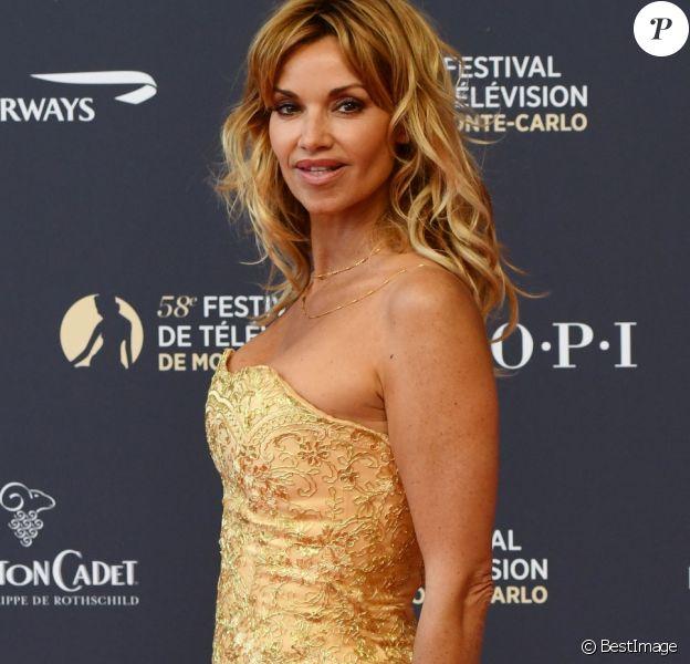 Ingrid Chauvin lors du photocall de la soirée d'ouverture du 58ème festival de Télévision de Monté-Carlo au Grimaldi Forum à Monaco le 15 juin 2018. © Bruno Bebert / Bestimage