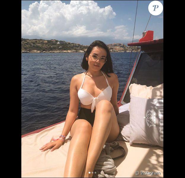 Agathe Auproux très sexy en Corse le 7 juillet 2018.