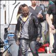 Les Black Eyed Peas, sans Fergie, sur le tournage de leur nouveau clip à Los Angeles, le 19 avril 2009. Apl.de.ap était bien là, lui !