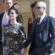 Tom Hardy et sa femme Charlotte Riley - Les invités à la sortie de la chapelle St. George au château de Windsor, Royaume Uni, le 19 mai 2018.