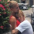 Justin Bieber et Hailey Baldwin en vacances aux Bahamas le 7 juillet 2018. Le couple vient de se fiancer.