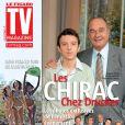 Jacques Chirac et son petit fils Martin en couverture de  TV Magazine , parution le 29 novembre 2009.